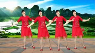民族风广场舞《何日等来采花郎》男女对唱,温馨甜蜜,十分好听!