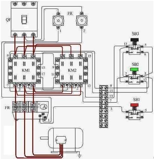 请问2个cjx2交流接触器怎么做三相电机正反转控制?