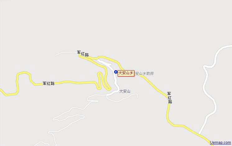 房山百花山自然风景区地图