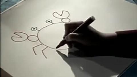 儿童简笔画第12集 螃蟹