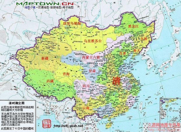 长城笔画中国地图