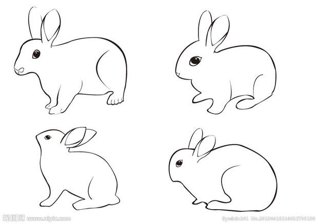 古装美女手绘 玉兔