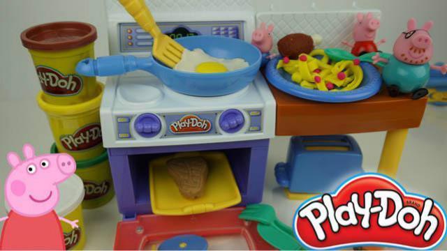 小猪佩奇培乐多厨房玩具过家家
