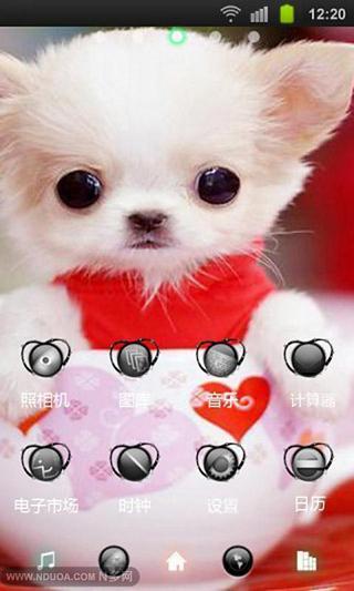 可爱狗狗桌面主题—魔秀