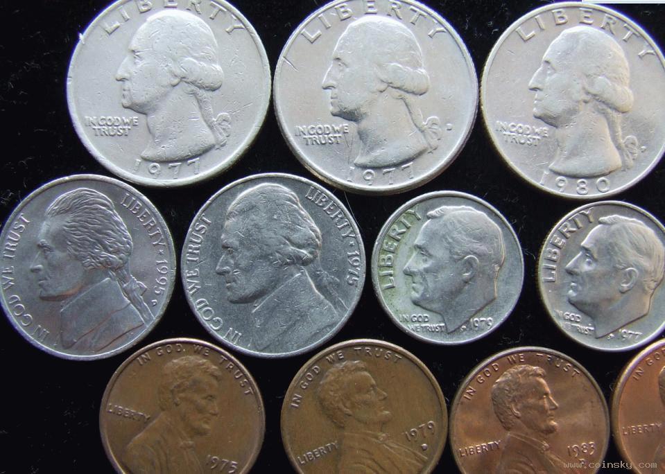美国 头像/美国硬币...