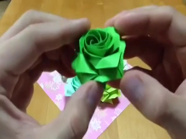 儿童折纸大全视频 折纸玫瑰