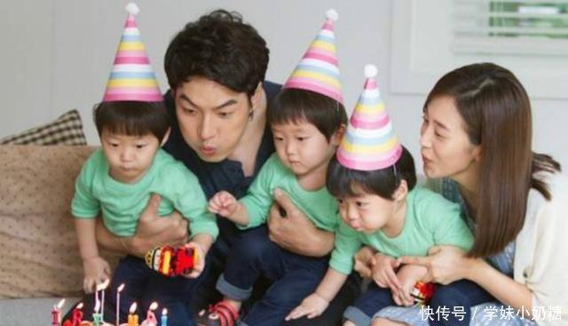 韩国三胞胎,表情影帝风靡表情红,爸爸无损中没有儿子包图片