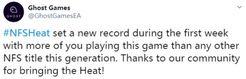 《极品飞车:热度》首周销量破系列纪录 工作室致谢