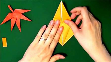 折纸技能 枫叶的折法 怎样折枫叶 折纸视频大全[高清版]