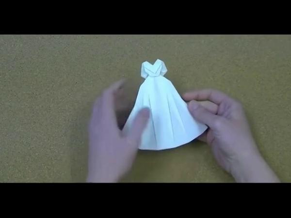 2014手工折纸婚纱 折法视频