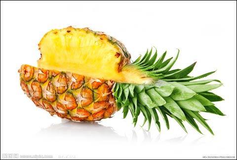 吃菠萝的可爱图片