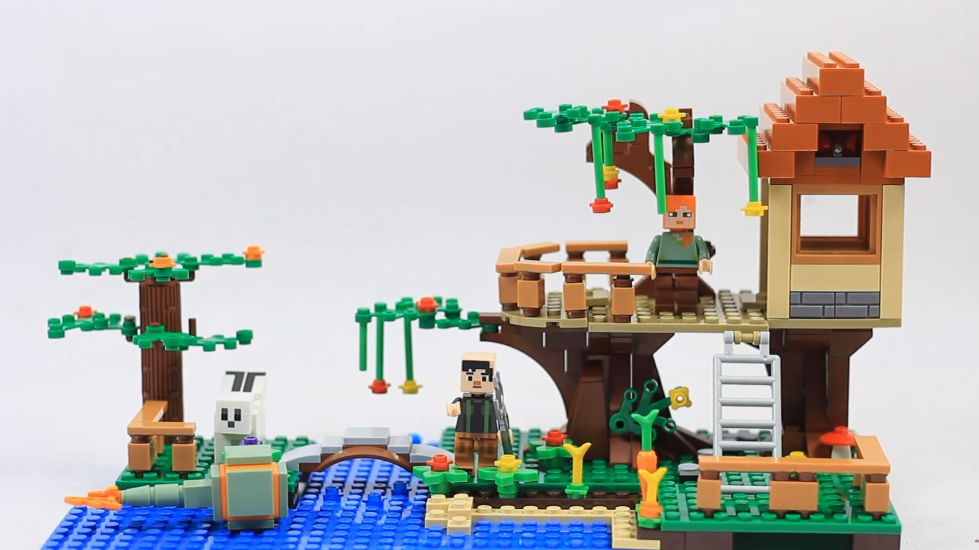 乐高我的世界积木玩具拼装:杰西和艾利克斯的丛林树屋