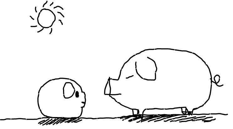 猪猪父女的对话