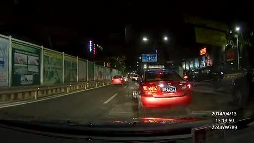 凌度hs900后视镜高清行车记录仪夜晚实拍视频