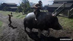 这款《荒野大镖客:救赎2》MOD能把猪变坐骑:亚瑟骑猪逛西部