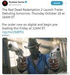 《荒野大镖客:救赎2》19号开启预载!上市预告周四公布