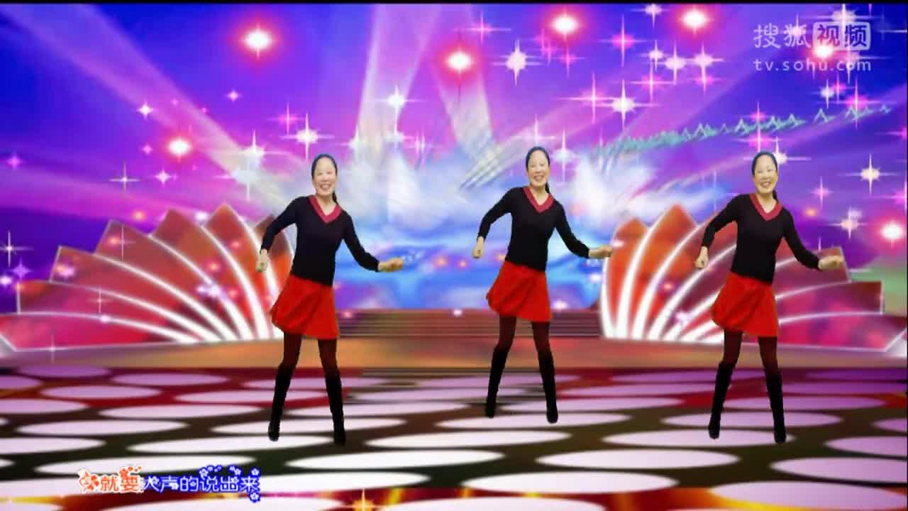 广场舞原创视频背景素材视频