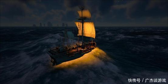《ATLAS》玩家机动小船疯狂骚扰,旋转跳跃花式虐暴幽灵船