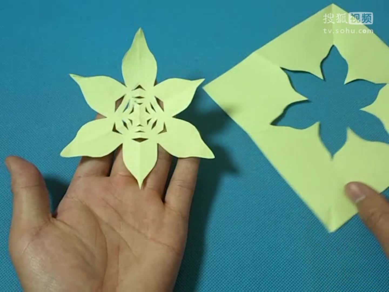 剪纸地瓜纹样团花 剪纸视频教程大全 儿童亲子手工diy教学 简单.