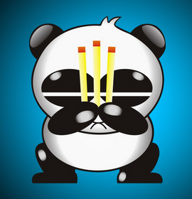 熊猫烧香高清图片