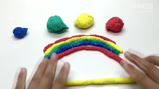 彩泥制作视频之五彩缤纷的彩虹桥