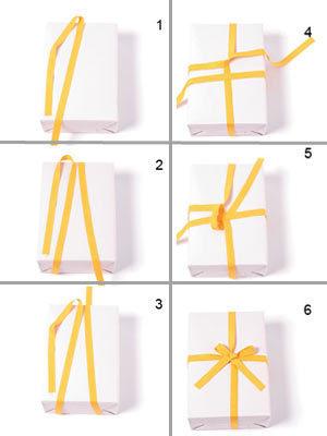 怎么用丝带包装礼物