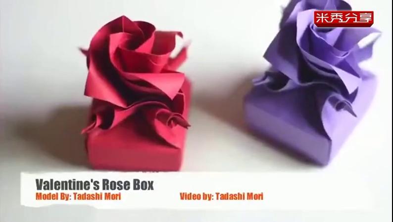 手工制作 折纸大全 玫瑰花盒子