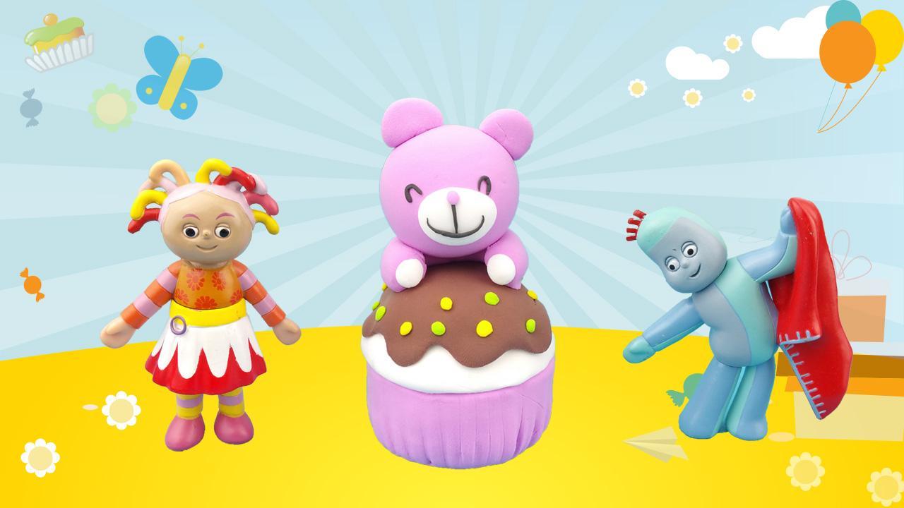 花园宝宝diy草莓味杯子蛋糕 超轻粘土手工制作可爱熊食玩玩具游戏.