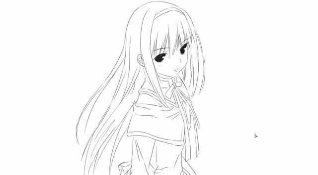 [小林简笔画]如何绘画萌萌的动漫女生人物卡通动漫简