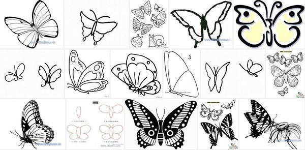 如何 画蝴蝶