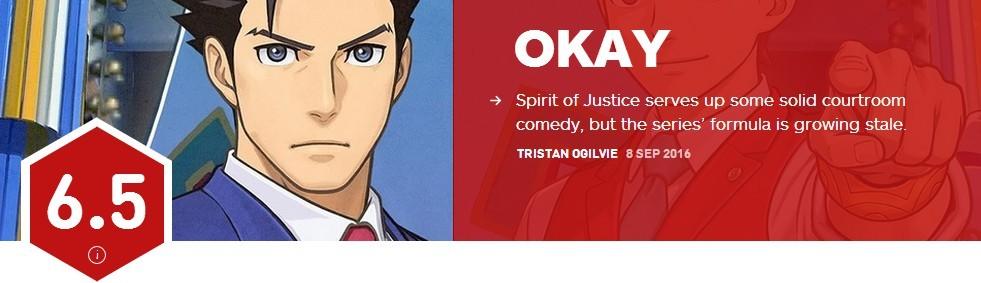 《逆转裁判6》IGN评分6.5