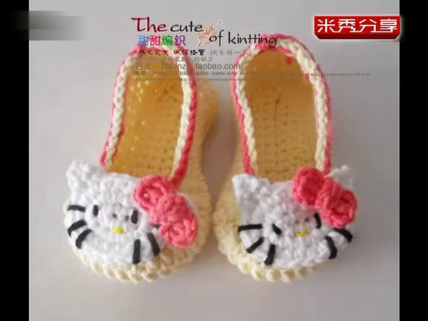 可爱的兔子宝宝 婴儿毛线鞋子编织视频