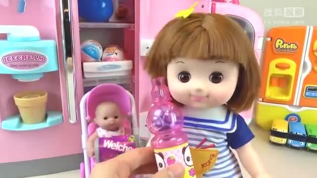 芭比娃娃彩泥粘土手工制作汉堡蛋糕披萨饼