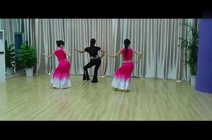 《月亮》傣族舞蹈教学视频 民族舞 简单教学
