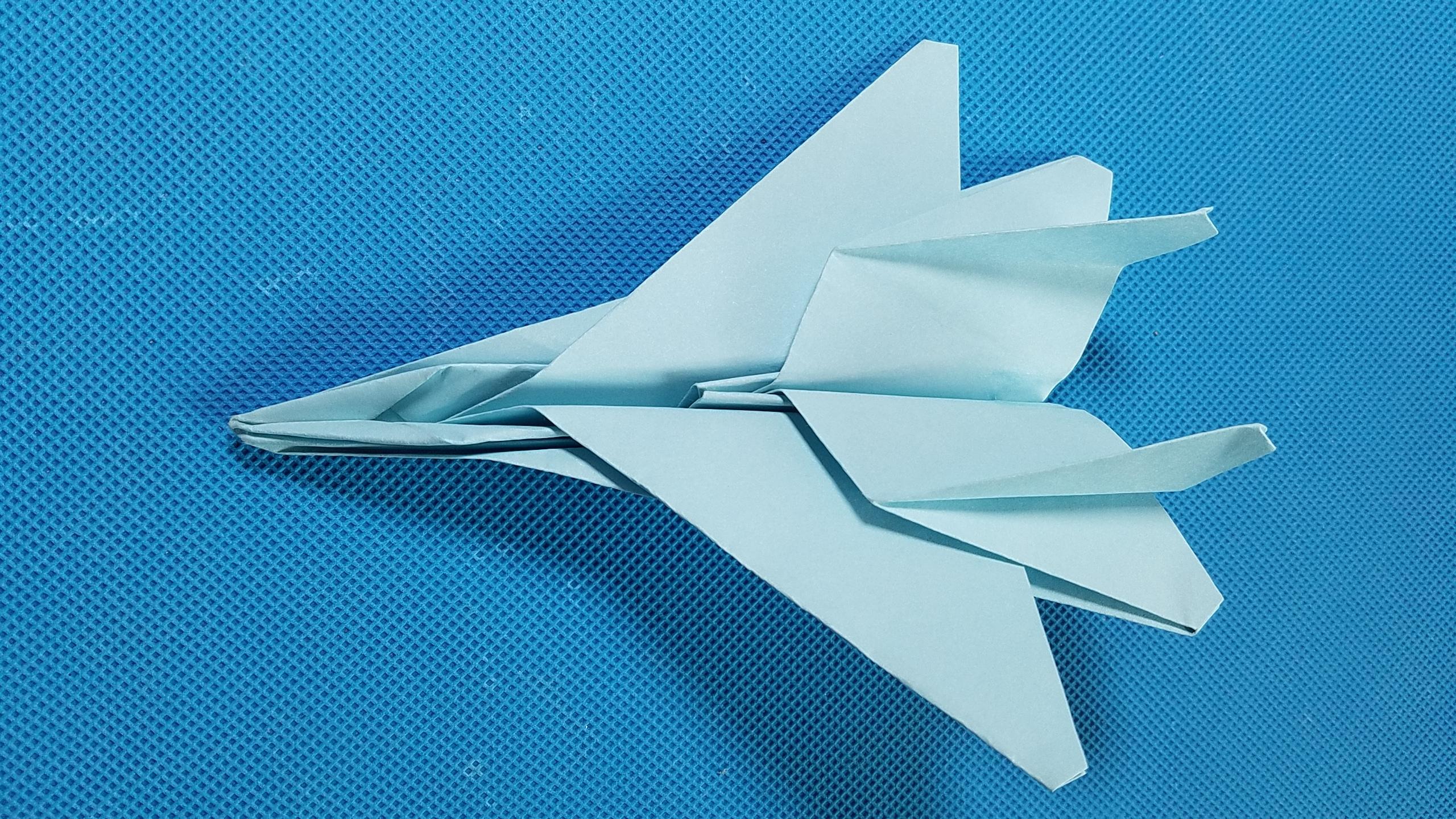 折纸王子教你折纸f15战斗机 折纸飞机9分钟学会 讲解详细 简单易学.