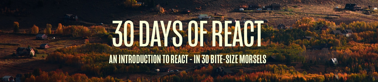 30 Days of React
