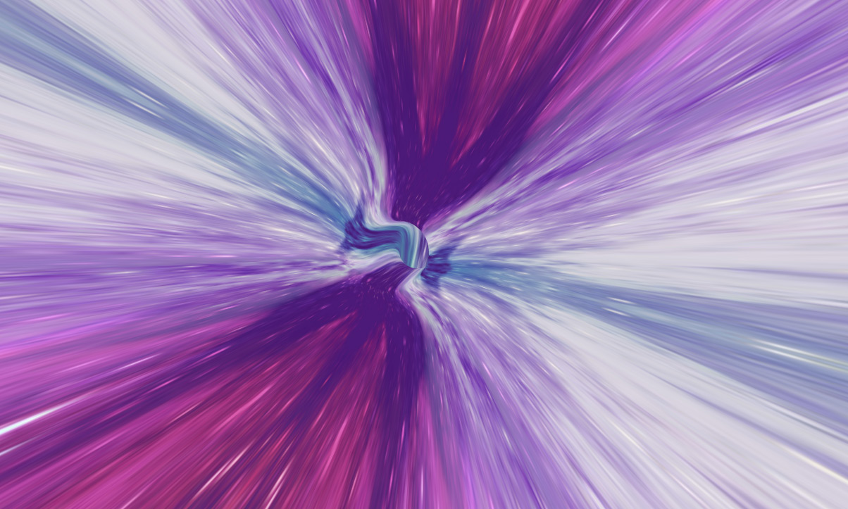 Screenshot of an hyperspace demo - Infinite Tubes with Three.js
