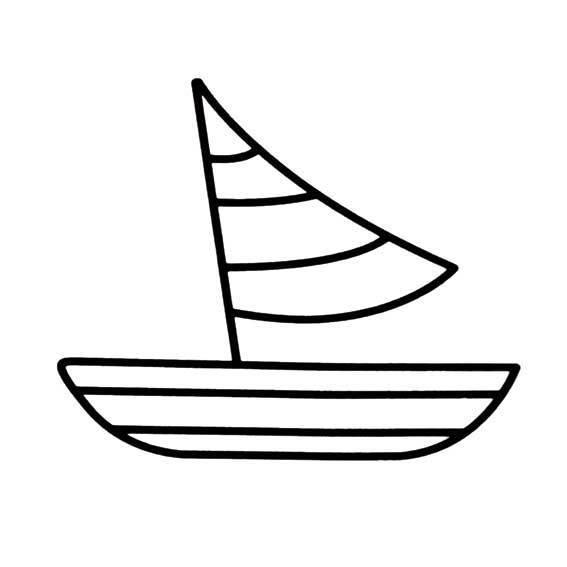 笔画-轮船儿童画/轮船简笔画图片大全/汽车简笔画图片大全/小船简笔画