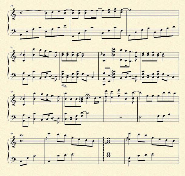 初次与你相遇的曲谱-是什么让我遇见这样的你 钢琴谱