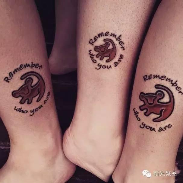 手腕上的英文闺蜜纹身图案