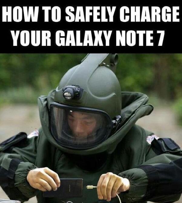 三星Galaxy Note 7搞笑图