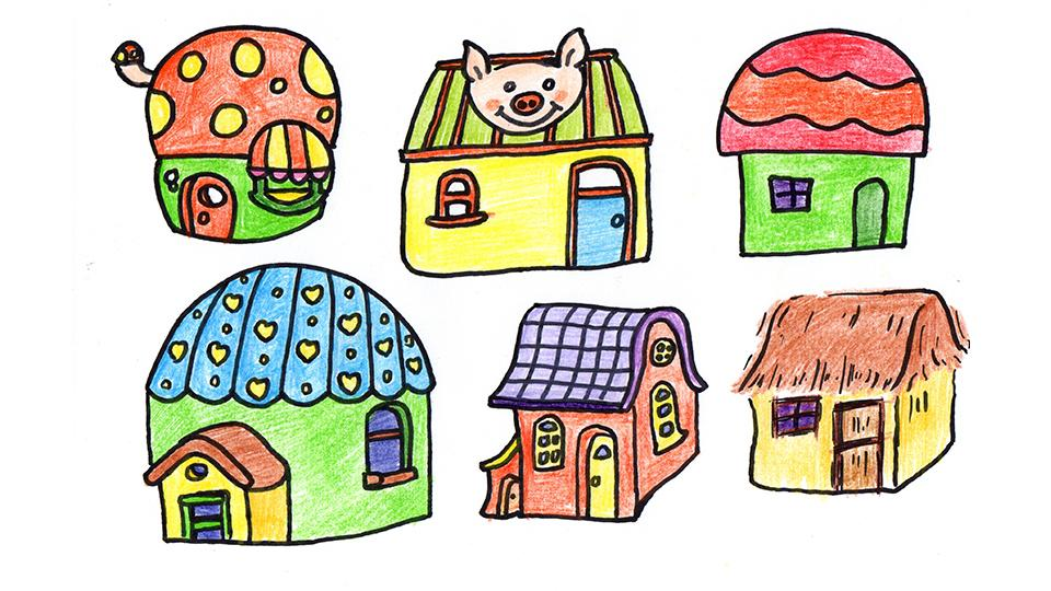各种漂亮的小房子简笔画哦!收藏起来,以后肯定用得到