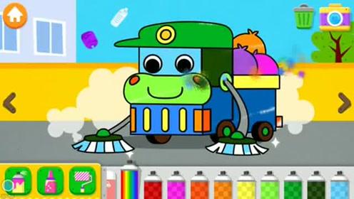 汽车城垃圾车出动清理垃圾 汽车总动员游戏