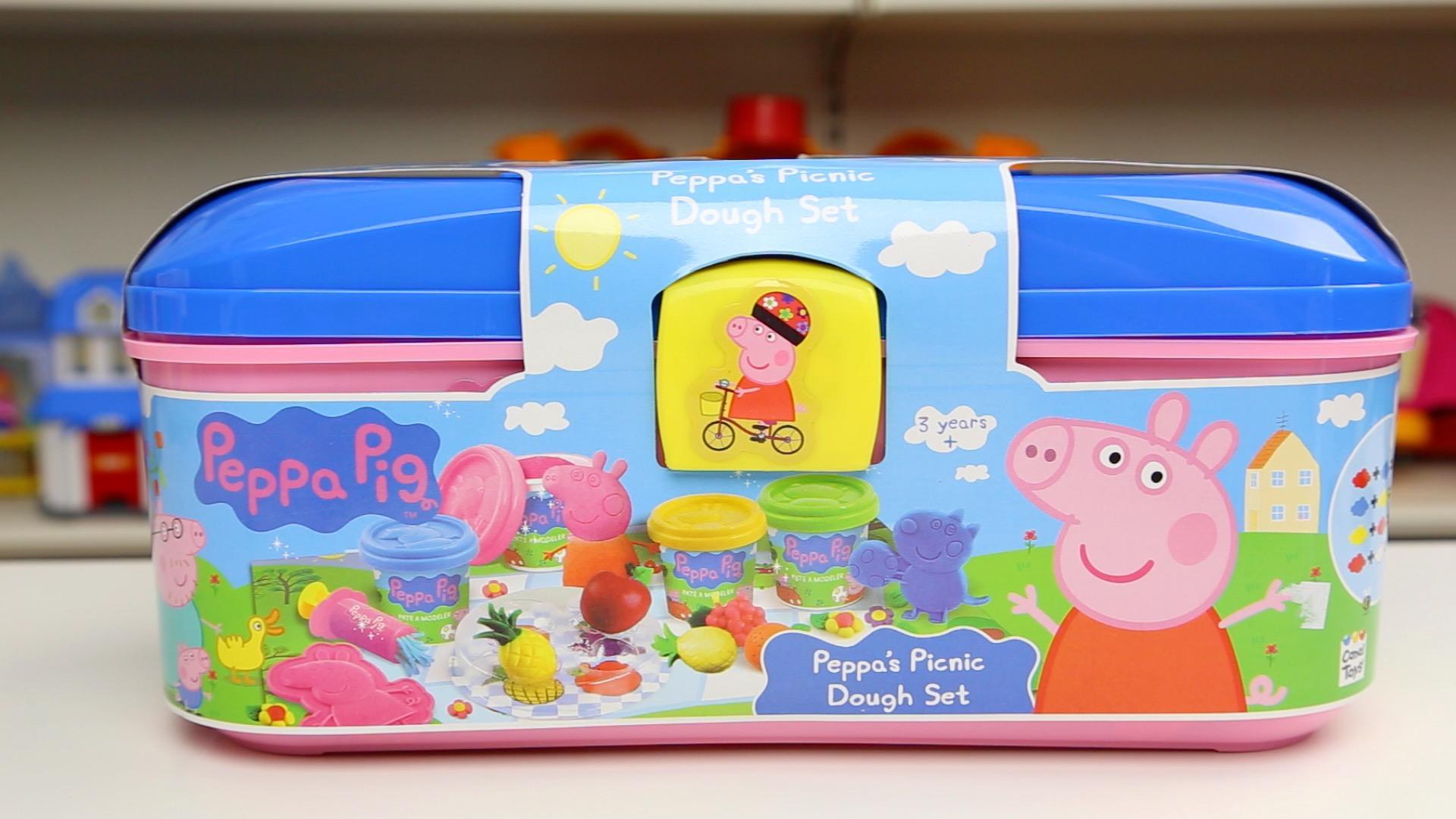 粉红猪小妹 野餐彩泥玩具 小猪佩奇 制作水果面