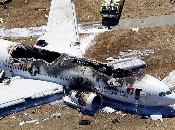 对韩亚航空公司坠机事件进行调
