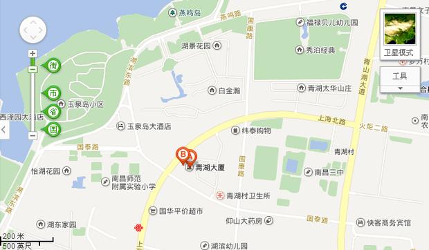 南昌上海北路口青湖大厦地图