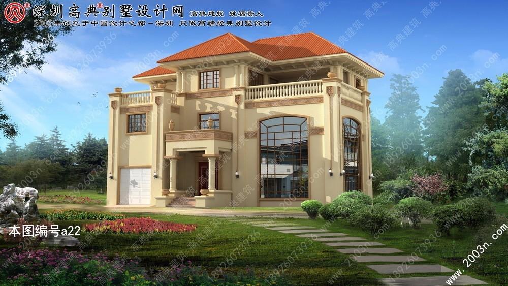 三层别墅外观效果图, 别墅图片大全, 现代别墅设计图