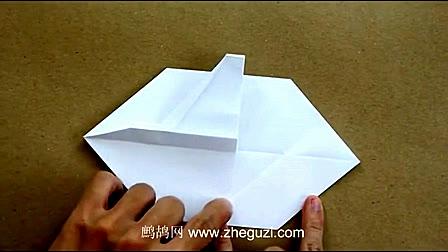 折纸飞机 纸飞机折法 折f16战斗机
