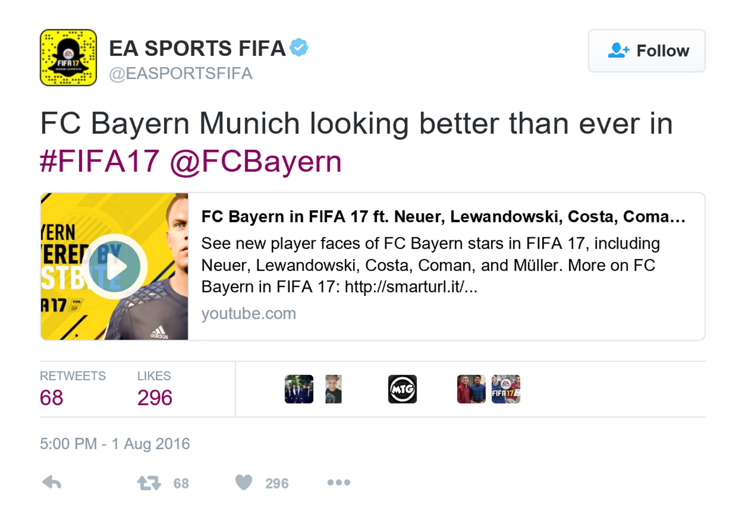 《FIFA 17》拜仁慕尼黑宣传片