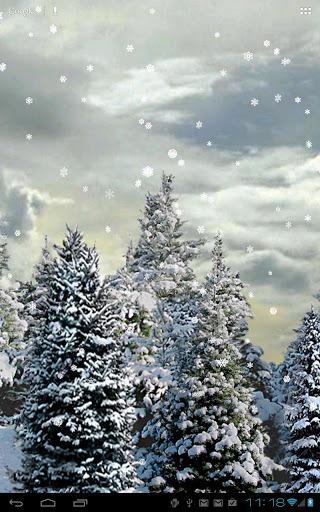 雪花飘动态壁纸截图1